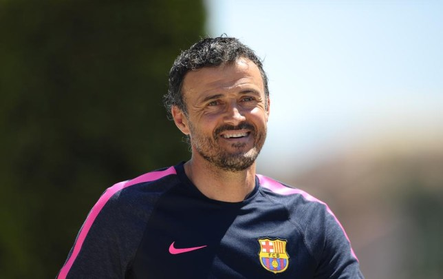 FC Barcelona's coach Luis Enrique arrives for a press conference at the Sports Center FC Barcelona Joan Gamper in San Joan Despi, Spain, Wednesday, July 16, 2014. Enrique takes charge of the squad on Tuesday when the team begins training for the 2014/15 season. (AP Photo/Manu Fernandez) AP Photo/Manu Fernandez