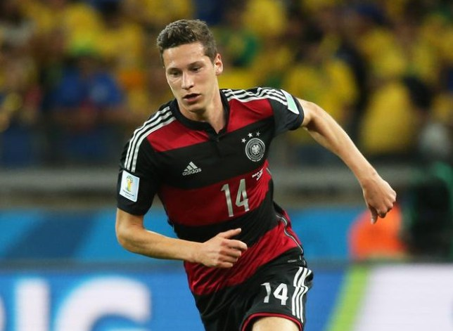BELO HORIZONTE, BRAZIL - JULY 8: Julian Draxler of Germany in action during the 2014 FIFA World Cup Brazil Semi Final match between Brazil and Germany at Estadio Mineirao on July 8, 2014 in Belo Horizonte, Brazil. Jean Catuffe/Getty Images