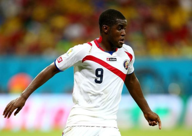 RECIFE, BRAZIL - JUNE 29: Joel Campbell of Costa Rica controls the ball during the 2014 FIFA World Cup Brazil Round of 16 match between Costa Rica and Greece at Arena Pernambuco on June 29, 2014 in Recife, Brazil. Ian Walton/Getty Images