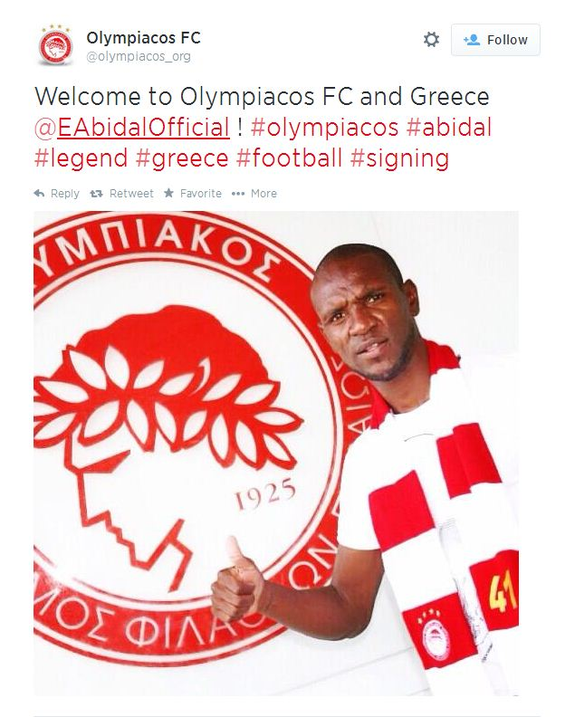 Eric Abidal 'forces' Olympiacos move after Monaco refuse to sign friend Victor Valdes