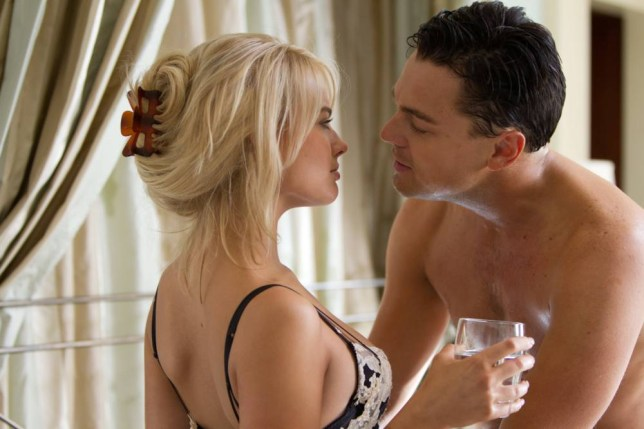 Film, 'The Wolf Of Wall Street', (2014) Margot Robbie and Leonardo DiCaprio. bbb