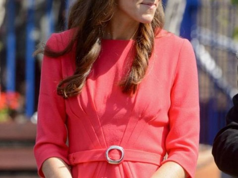 Kate Middleton is lady-like in red as she wears scarlet Goat dress for charity trip to London school