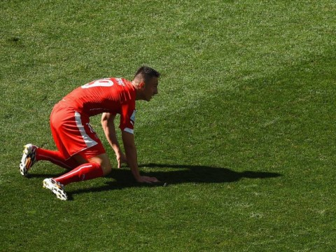 Lucky escape for Arsenal? Josip Drmic produces spectacular lob fail for Switzerland