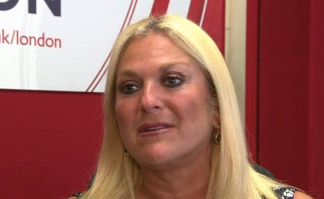 Vanessa Feltz speaking on BBC radio about abuse from public after she spoke about being sexually touched by Rolf Harris grab from BBC news by Metro Picture Desk NO FEE