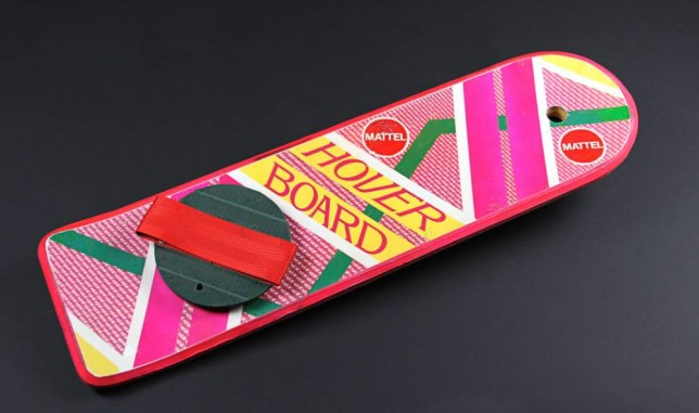 Marty McFly's (Michael J. Fox) Hoverboard - Back to the Future: Part II (1989)- £10 - 15K London 9th July 2014: Marty McFly's Hoverboard from Back to the Future: Part II/One of Willy Wonka's Golden Tickets/A Batmobile model miniature from Batman Forever (delete as appropriate) are among over 300 items and more than £1m worth of original film memorabilia going under the hammer in October, at a live Vue Entertainment and Prop Store auction in London. Ahead of the auction members of the public will be able to get up close and personal with some of the pieces at a free exhibition taking place at Vue Westfield, London.