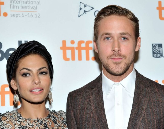 """TORONTO, ON - SEPTEMBER 07: Actors Eva Mendes and Ryan Gosling attend """"The Place Beyond The Pines"""" premiere during the 2012 Toronto International Film Festival at Princess of Wales Theatre on September 7, 2012 in Toronto, Canada. (Photo by Sonia Recchia/Getty Images)"""