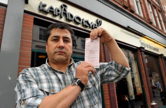 KAPADOKYA Turkish restaurant in York, North Yorkshire. Waiter Fatih Ozcan had a dream of winning the lottery and claims that he persuaded hi boss Hayati Kucukkoylo to buy a lottery ticket that was a winning ticket for £1Million. His boss says that the winnings are his and the dispute has gone to the high court in London, where Judge Mark Gosnell has declared that the money should be shared with each party receiving £500,000 each.  Pictured here  at the restaurant is Hayati Kucukkoylo. Paul Macnamara/rossparry.co.uk