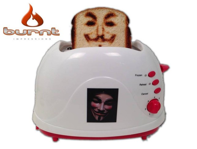 Selfie Toaster  sourced by pej  Credit the company and link back to website please  http://www.burntimpressions.com