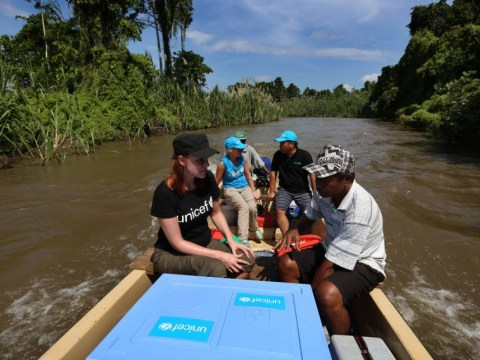 In the line of duty, Keeley Hawes heads into the malaria jungle with Unicef