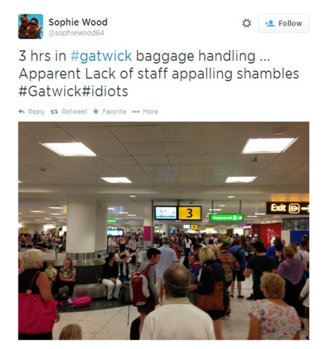 Passengers left without luggage at Gatwick Airport after