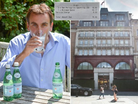 H2-OH, that's a big bill: Man charged £75 for three bottles of water at London hotel