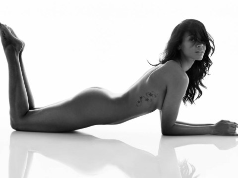 A bit of blue! Avatar star Zoe Saldana strips naked for cover shoot