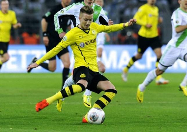 Mandatory Credit: Photo by Action Press/REX (3703386e)  Marco Reus  Borussia Dortmund vs VfL Wolfsburg, German Cup Semi final football match, Signal Iduna park, Germany - 15 Apr 2014