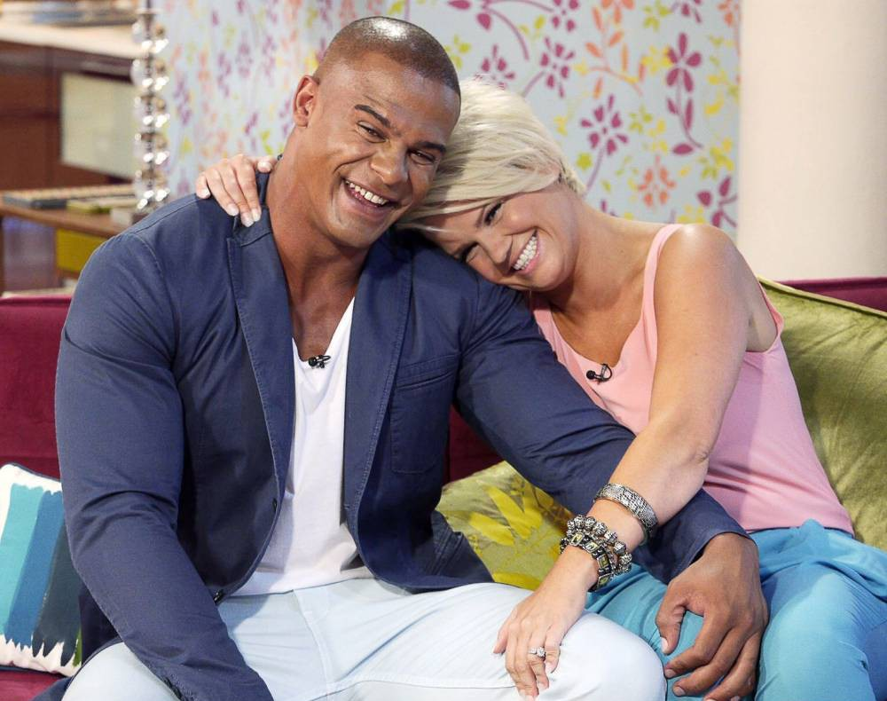 EDITORIAL USE ONLY / NO MERCHANDISING  Mandatory Credit: Photo by Ken McKay/REX (2665500ac)  Kerry Katona and George Kay  'This Morning' TV Programme, London, Britain - 18 Jul 2013  Bankrupt but not broken. We hear why Kerry Katona is not giving up as she prepares to marry her fiance, George Kay