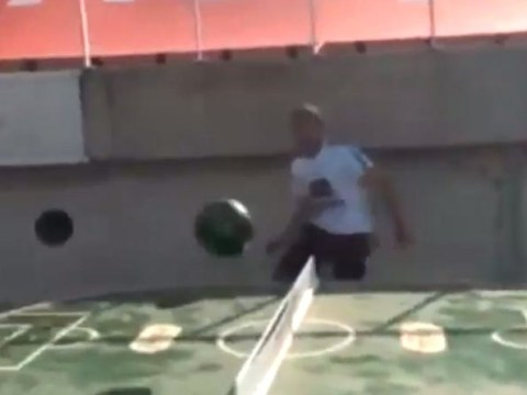 Forget FootGolf! Barcelona's Jordi Alba shows off even better ping pong football mash-up