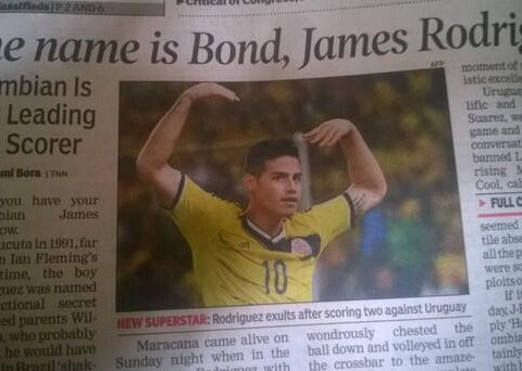 You won't believe how bad this James Rodriguez newspaper headline is…