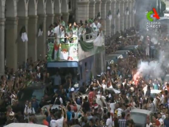 Amazing scenes! Algeria fans give team heroes welcome after World Cup exit