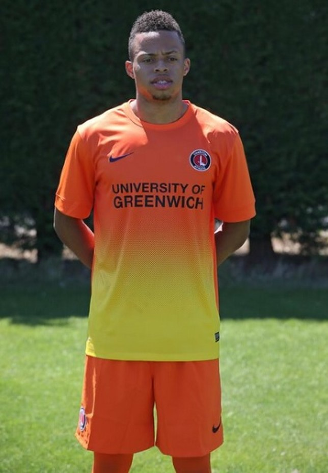 Jordan Cousins shows off Charlton's new third strip (Picture: Twitter/@cafcofficial)