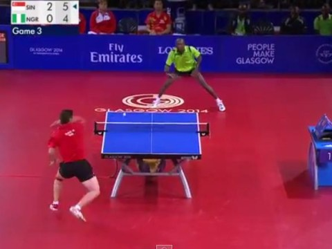 Ning Gao and Segun Toriola produce the best table tennis rally you've ever seen at Commonwealth Games 2014