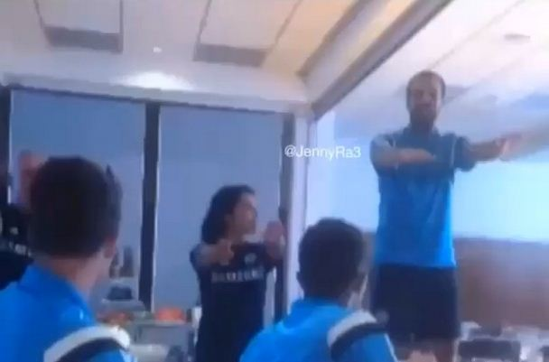 Watch Cesc Fabregas, Diego Costa and Filipe Luis belt out hilarious renditions of songs in Chelsea initiations