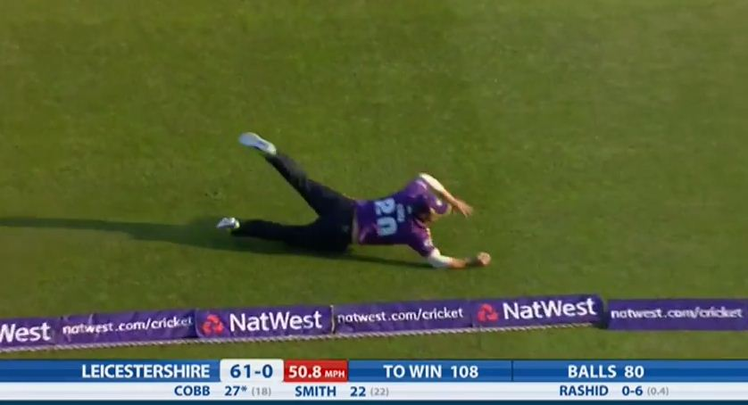 Adam Lyth and Aaron Finch produce ANOTHER sensational catch in