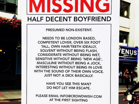 Crowdwish helps London woman find 'half-decent boyfriend' who is 'just not a dick basically'