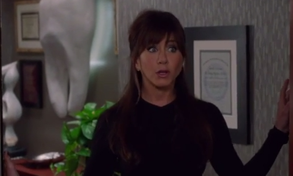 Jennifer Aniston hints at a 'dirty protest' in the first trailer for Horrible Bosses 2