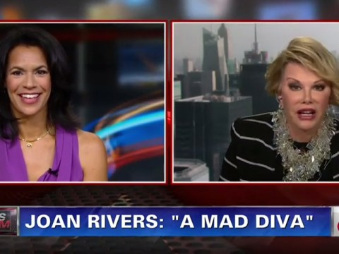 'You're not the one to interview a person who does humour': Comedienne Joan Rivers storms out of CNN appearance