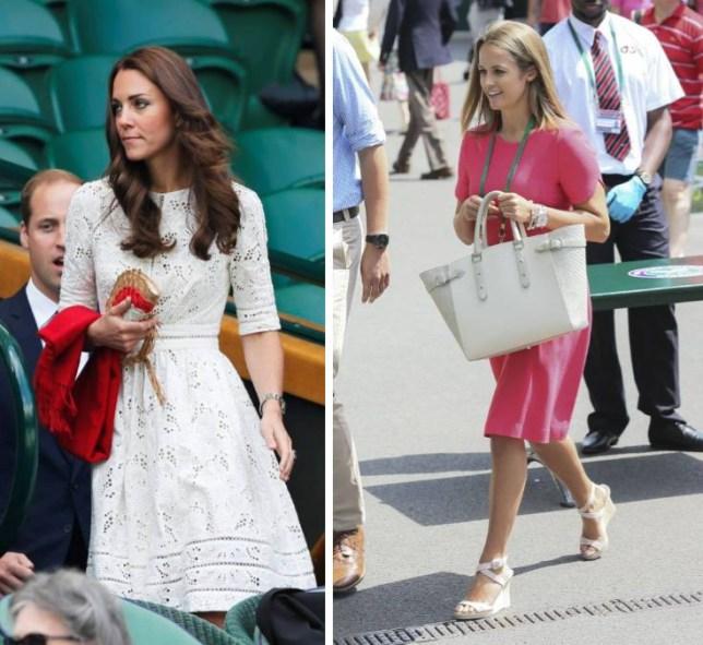 Kate Middleton fashion vs Kim Sears fashion at Wimbledon 2014