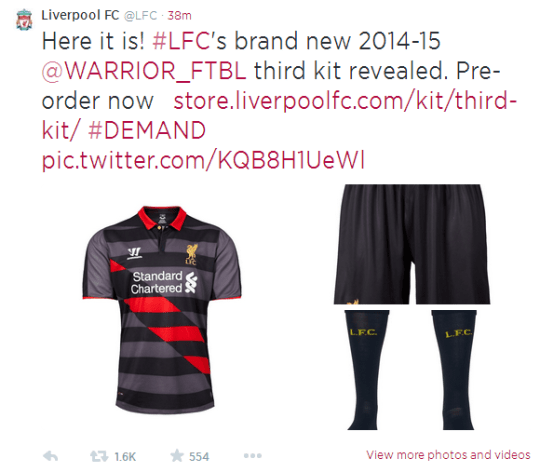 separation shoes cf0f0 3a8c9 Liverpool new third kit design draws mixed reactions – and ...
