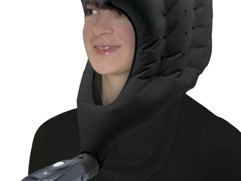 This amazing hood-dryer lets you blow-dry your hair, hands-free