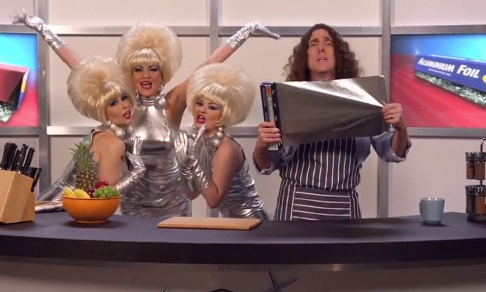 Weird Al Yankovic discovers the virtues of Foil in wacky Lorde parody