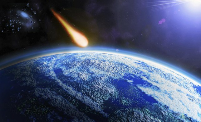 If the asteroid did enter Earth's atmosphere it would burn up instantly (Picture Paul Paladin)