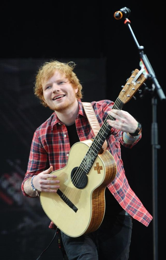 Ed Sheeran performs on stage during V Festival 2014 at Hylands Park in Chelmsford, England, Saturday, Aug. 16, 2014. (Photo by Joel Ryan/Invision/AP) Joel Ryan/Invision/AP