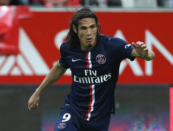 REIMS, FRANCE - AUGUST 8: Edinson Cavani of PSG in action during the French Ligue 1 match between Stade de Reims and Paris Saint Germain FC at the Stade Auguste Delaune on August 8, 2014 in Reims, France. Jean Catuffe/Getty Images