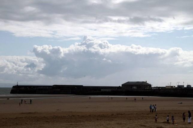 Shark cloud, South Wales