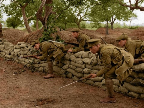 First World War centenary: Striking WWI pictures restored with colour