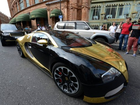 Bling it on! Wealthy Arabs show off supercars, including Bugattis and Lamborghinis, for 'The Season' in London