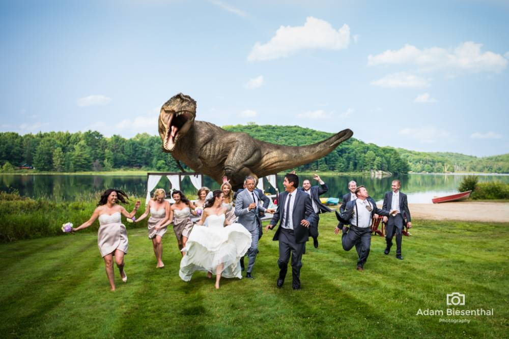 Is this the best wedding photo ever? Jeff Goldblum helps happy couple recreate Jurassic Park