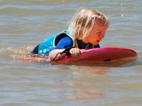 Girl, 4, floats half-a-mile out to sea after falling asleep on boogie board