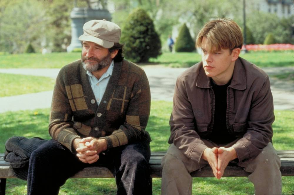 Good Will Hunting (1997) Robin Williams, Matt Damon *Filmstill - Editorial Use Only* CAP/NFS Supplied by Capital Pictures