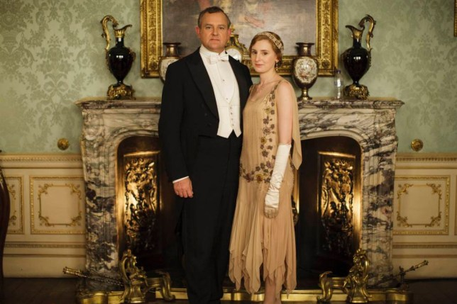 From Carnival Film & Television LtdnnDownton Abbey Series 5 on ITVnnPictured: HUGH BONNEVILLE as Robert, Earl of Grantham and LAURA CARMICHAEL as Lady Edith Crawley. nnThe fifth series, set in 1924, sees the return of our much loved characters in the sumptuous setting of Downton Abbey. As they face new challenges, the Crawley family and the servants who work for them remain inseparably interlinked.nnPhotographer: Nick Briggsnn© Carnival Film & Television Ltd