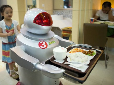 The future is now and it's terrifying – new cafe in China is run entirely by robots