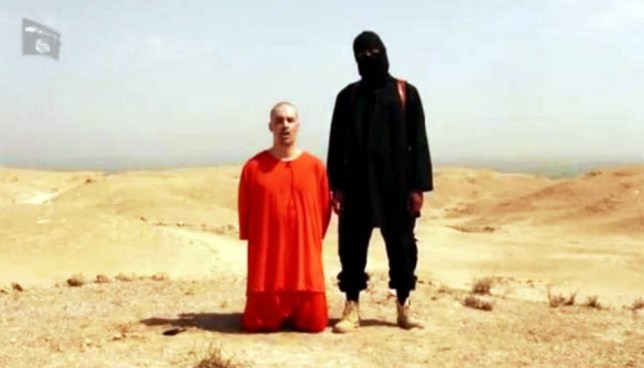 James Foley was forced to read a statement by Islamic State fighters before his execution (Picture: YouTube)