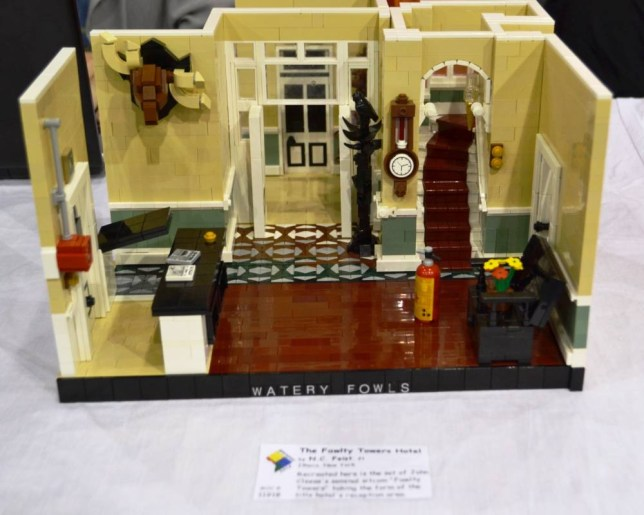 Fawlty Towers hotel in Lego
