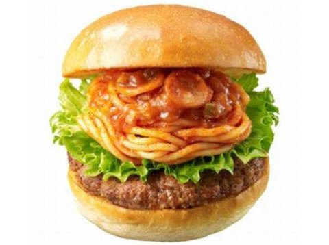 Now they have spaghetti burgers in Japan, why do they get EVERYTHING good?