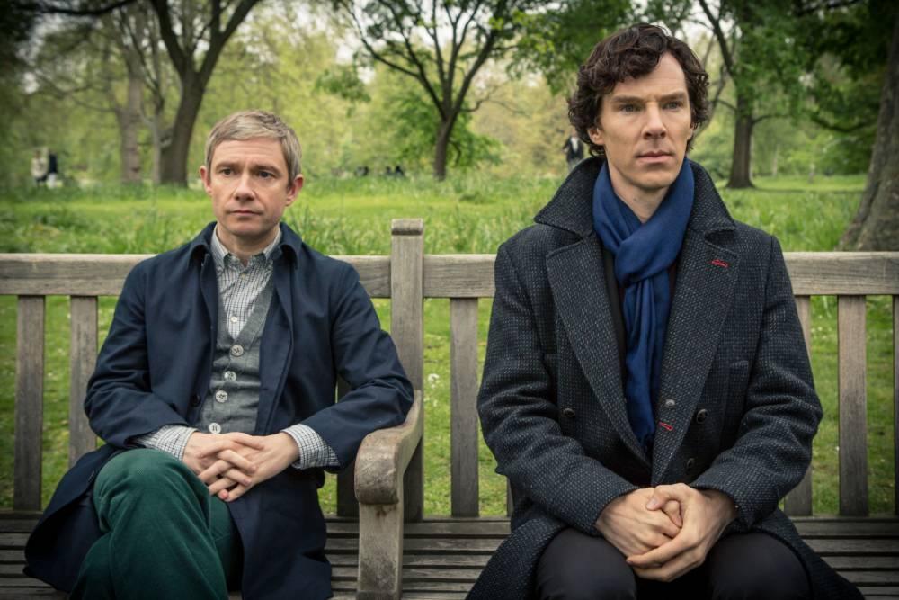 Sherlock with Benedict Cumberbatch as Sherlock Holmes and Martin Freeman as Dr John Watson