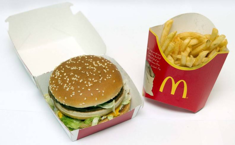 McDonalds Big Mac and fries Picture: Daily Mail)