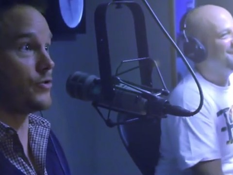 Someone has edited Chris Pratt's Eminem rap on to the original Forgot About Dre