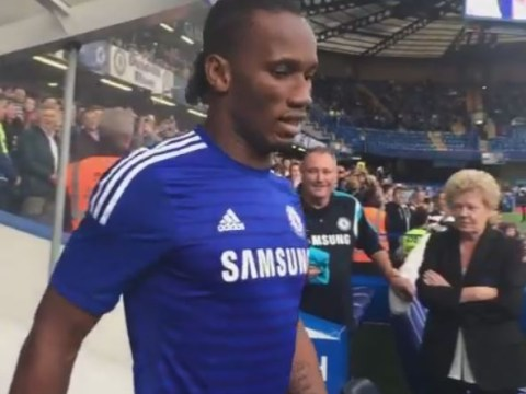 Didier Drogba given sensational welcome by Chelsea fans on return to Stamford Bridge